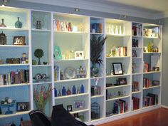 Lazy Owl Boutique: Ikea Hack: Built-in Bookshelves Tutorial
