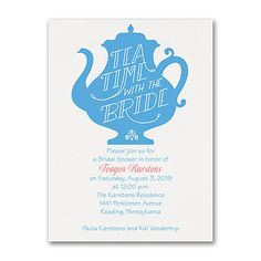 Tea Time - Bridal Shower Invitation