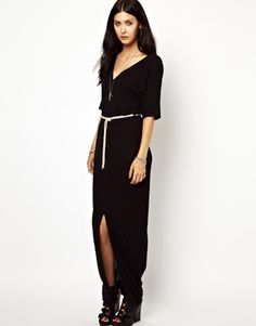 Image 4 of Diesel Maxi Dress With Front Split