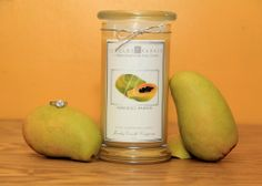 Tangy, sweet, juicy fusion of scrumptious mango & plump papaya.    Inside every candle is a hidden jewel that can be worth anywhere from $10 to $7500.You could get a ring, necklace, pendant, bracelet or a pair of earrings! You just never know what you are going to get but you will always get a go...