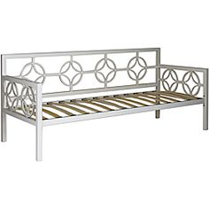 @Overstock - Medallion Marshmallow White Twin Daybed - This versatile Medallion Twin Daybed features a classic design that fits in perfectly with any decor. This deep daybed provides ample seating and sleeping space and has plastic leg glides to protect floors from being scratched.  http://www.overstock.com/Home-Garden/Medallion-Marshmallow-White-Twin-Daybed/6620976/product.html?CID=214117 $466.49