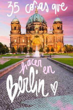35 cosas que ver y hacer en Berlín Alemania Viaje Informazioni sul nostro sito Travel Guides, Travel Tips, Travel Around The World, Around The Worlds, Moving On In Life, Travelling Tips, Traveling, Eurotrip, Future Travel