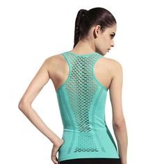 Womens Yoga Shirt Yoga Tank Tops Hollow Back Top Gym Jogging Vest Female Running Top Woman Fitness Sport Top Sexy Yoga Clothing Workout Tops, Workout Shirts, Workout Gear, Gym Clothes Women, Running Shirts, Courses, Sports Shirts, Tank Top Shirt, Fit Women