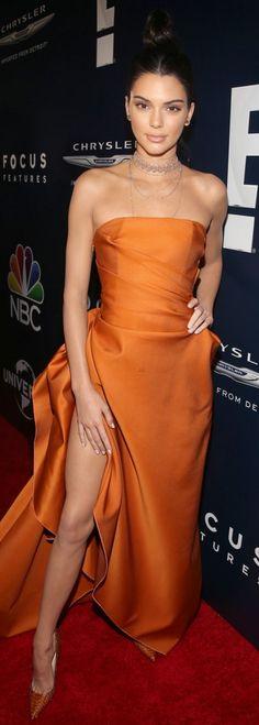 Kendall Jenner wearing Dress – Paule KA Shoes – Christian Louboutin