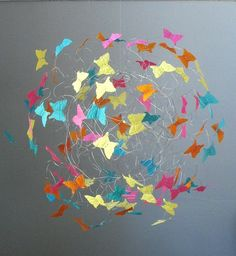 Baby Mobile Butterfly Mobiles for Baby Crib by ButterflyOrbs, $64.00