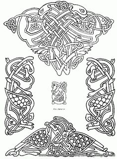 Viking Pattern, Scroll Pattern, Norse Tattoo, Viking Tattoos, Celtic Patterns, Celtic Designs, Viking Ornament, Celtic Border, Scandinavian Tattoo