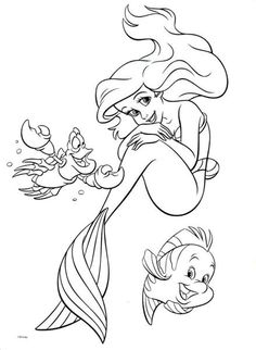 Princess Ariel Little Mermaid Coloring Pages | HelloColoring.com ...