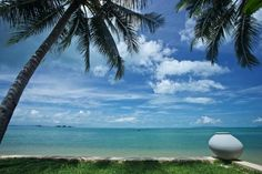 The exclusive Taling Ngam beach in Koh Samui, where Villa Baan As an is located.