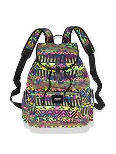 VS Pink aztec pattern backpack