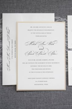 I love a sophisticated, formal and traditional wedding. Send out this invitation and your guests will know straight from the get go what the rest of