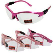 Global Vision Eyewear Cruising Safety Glasses with Clear Lenses Smoke Lens Global Vision Eyewear Corp Full Throttle PL SM A//F