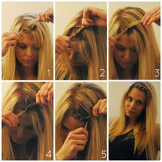 How to style your bangs when growing them out -twist Braid