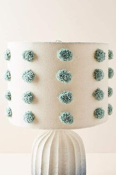 Tufted Bungalow Lamp Shade by Anthropologie in Blue, Lighting Unique Lamps, Unique Lighting, House Lamp, Tiffany Lamps, Bedroom Lamps, Home Living, Living Room, Lamp Design, Interior Lighting