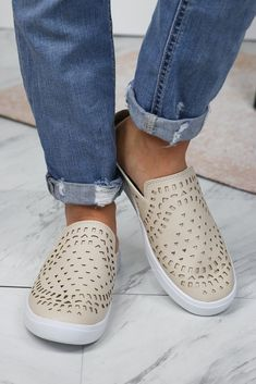 636ec764116e4 Details Make way in your shoe collection for these trendy yet comfy slip on  cutout sneakers