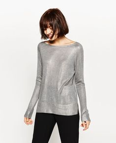 ZARA - WOMAN - FOIL SWEATER