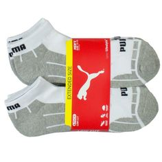 Puma Mens Minimal Cut 6-Pair All Activity Extended Measurement Socks (13-15, Gray &amplifier Whitened) - http://bestreviewsone.com/puma-mens-minimal-cut-6-pair-all-activity-extended-measurement-socks-13-15-gray-whitened.html