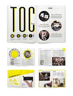 magazine spread