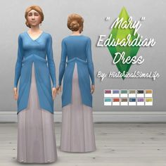 History Lover's Sims Blog: Mary Edwardian Dress • Sims 4 Downloads