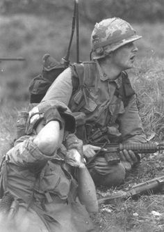 US Soldiers during an operation.
