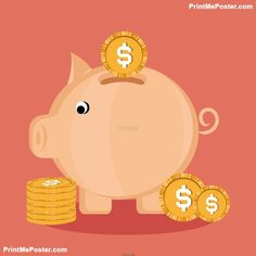Poster of Save Money Vector Design Illustration, Money Posters, #poster, #printmeposter, #mousepad, #tshirt