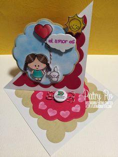 Blog Hop del Amor – Party Favors!!      Set 3x4 Amy y su globo de corazón Set 3x4 Dias de sol / Sunny Days  4x6 Mi amor por ti