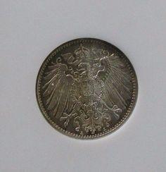 1915A German 1 Mark Uncirculated NGC MS65; KM #14