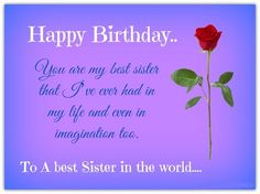 15 Best Birthday Quotes for Sister images | Happy birthday sister