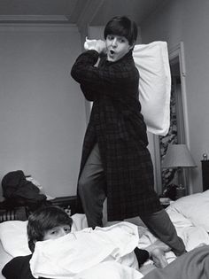 Paul on the attack to John whilst in Paris, 1964