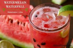 Watermelon Waterfall Juice - just watermelon and lime. Simple and refreshing.