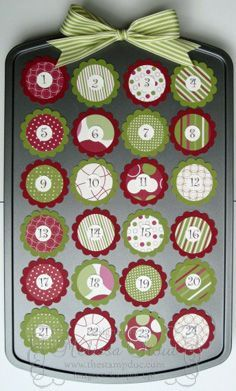 Muffin tin advent calendar with magnetic GENIUS! I was just about to spend a LOT of time making an advent calendar! Muffin tin advent calendar with magnetic GENIUS! I was just about to spend a LOT of time making an advent calendar! Christmas Countdown, Winter Christmas, All Things Christmas, Christmas Holidays, Christmas Decorations, Christmas Tables, Scandinavian Christmas, Modern Christmas, Christmas Stockings