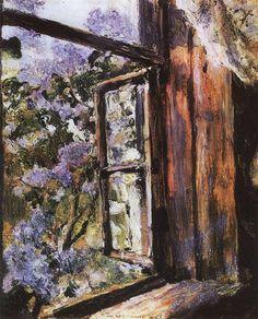 Valentin Serov (Russian, 1865-1911) - Open Window. Lilacs, 1886, oil on canvas, The Art Museum of Belarus, Minsk