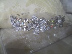 Diamante double band tiara or headpiece by melanie brooks bespoke tiara headpieces @ facebook