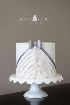 Diagonal Ruffles Cake