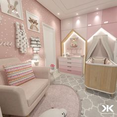 NET and discover more ideas and furniture for luxury baby bedroom Baby Bedroom, Baby Room Decor, Girls Bedroom, Bedroom Decor, Baby Room Design, Girl Bedroom Designs, Baby Zimmer Ikea, Deco Kids, Fantasy Bedroom