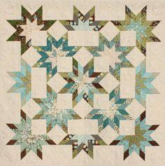 Star Burst Jelly Roll Quilt Pattern -