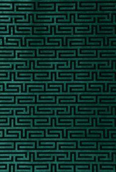 Velvet Maze, Aquamarine.  A modern ethnic look  #interiordesign #textiles #robertallen
