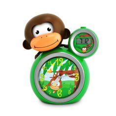 Veilleuse réveil Coach du sommeil singe Momo vert Baby Zoo pour enfant de 3 ans à 5 ans - Oxybul éveil et jeux