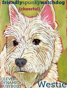 West Highland Terrier Westie No. 1  magnets por ursuladodge en Etsy, $6.00