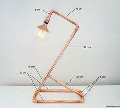 plan tutoriel lampe en cuivre