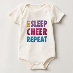 Eat Sleep Cheer Repeat Baby Bodysuit - diy cyo personalize design idea new special custom