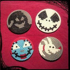 Halloweenfieber #Halloween #perlerbeads #hamaperlen #hama #nightmarebeforechristmas #jackskellington #bügelperlen #coasters #untersetzer #zero #oogieboogie #sally #glasuntersetzer