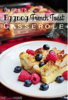 Overnight French Toast Casserole from Five Heart Home | A Featured Link at The Weekend re-Treat Link Party