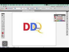 Adobe Illustrator - Creating Interlocking Text - YouTube