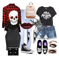 """""""Untitled #22"""" by reptar-0 ❤ liked on Polyvore featuring Glamorous, Iron Fist, Old Navy, AG Adriano Goldschmied, Converse, Rip Curl, Mulberry, Jennifer Meyer Jewelry and LASplash"""