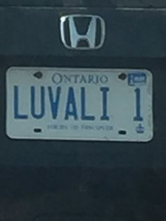 This is a lovely one Vanity License Plates, Honda Logo