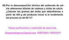 Ejercicio 28. Tema: Rendimiento (reacciones químicas)