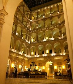 Another amazing hotel in Budapest is the Boscolo. It has the most beautiful classically designed atrium.  #Boscolo #tophotels #luxuryhotels #thepamperednomad #budapest #traveleurope #instatravel #hungary #tourism #greathotels #lobby