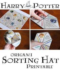 Free Printable | Harry Potter Origami Sorting Hat https://www.getawaytoday.com/blogs/2015-12-30/harry-potter-origami-sorting-hat-free-printable