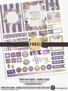 FREE Spring In My Garden Planner Stickers by  Paty Greif Design Studio