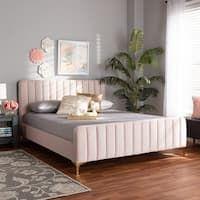 Shop Colette Platform Bed - On Sale - Overstock - 28165569 Bedroom Furniture Stores, Bed Furniture, Furniture Deals, Bedroom Decor, Full Bed Frame, King Bed Frame, Velvet Bed, Pink Velvet, Queen Size Platform Bed